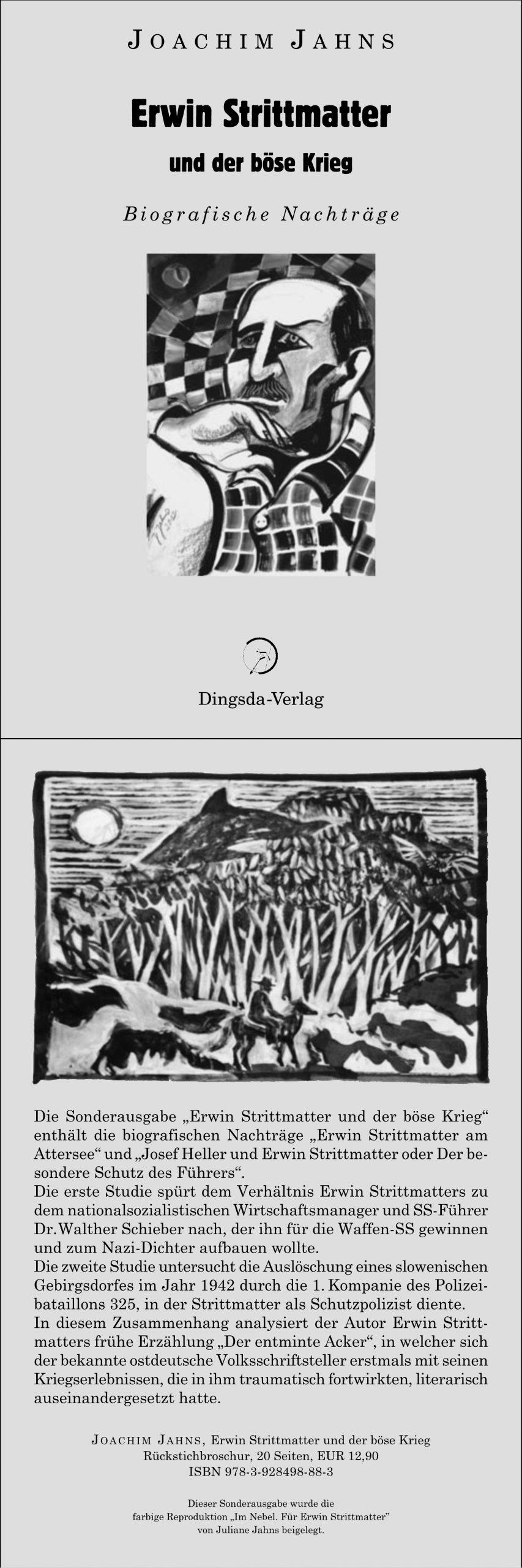Buch: Erwin Strittmatter und der böse Krieg